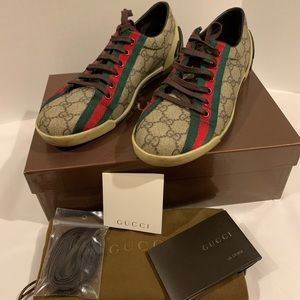 Gucci Coates canvas web sneakers size 9.5